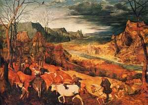 Pieter the Elder Bruegel - The Return of the Herd (or November)