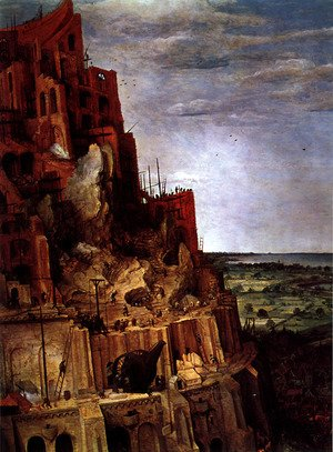 Pieter the Elder Bruegel - The Tower of Babel [detail]