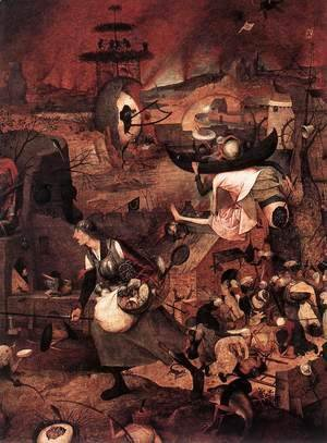 Pieter the Elder Bruegel - Dulle Griet (detail)