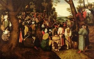 Pieter the Elder Bruegel - A Landscape With Saint John The Baptist Preaching