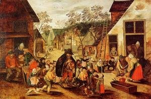 Pieter the Elder Bruegel - The Organ Grinder