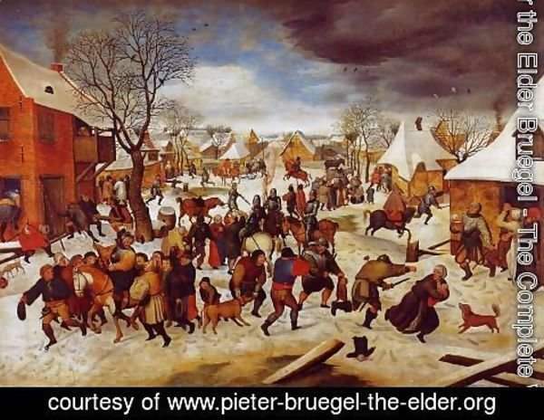Pieter the Elder Bruegel - The Massacre of the Innocents