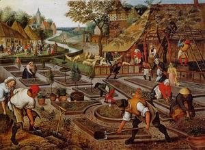 Pieter the Elder Bruegel - Preparation of the Flower Beds