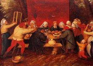 Pieter the Elder Bruegel - Giving Presents at a Wedding