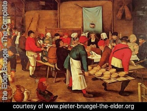 Pieter the Elder Bruegel - The Wedding Feast in a Barn