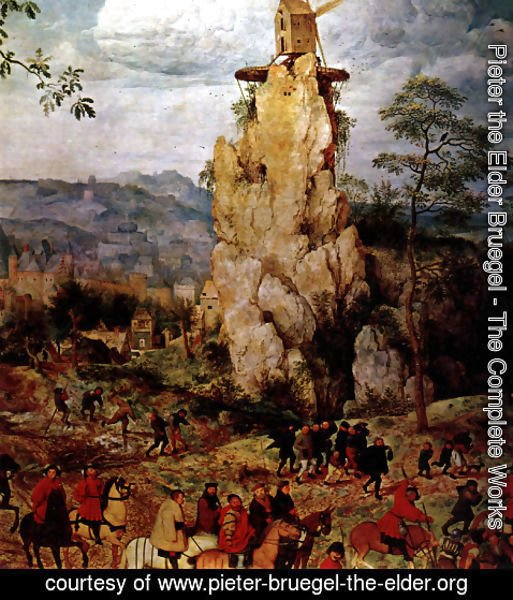 Pieter the Elder Bruegel - The Procession to Calvary [detail] I