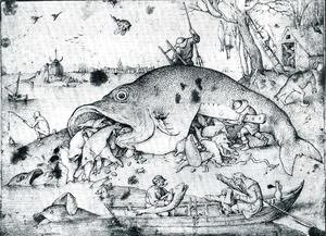 Pieter the Elder Bruegel - Big Fishes Eat Little Fishes