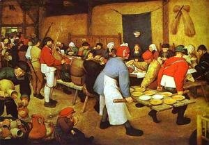 Pieter the Elder Bruegel - The Peasant Wedding 2