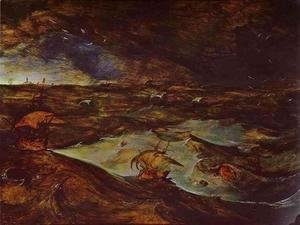 Pieter the Elder Bruegel - Storm at Sea