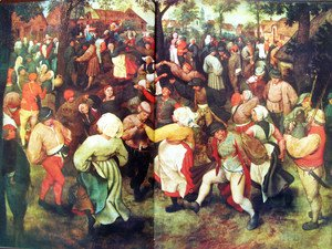 Pieter the Elder Bruegel - Bridal outdoors dance