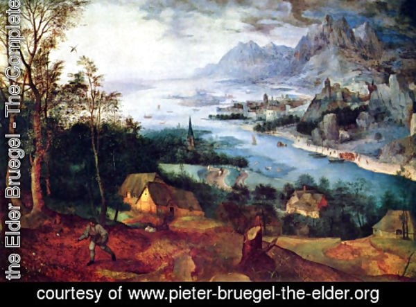 Pieter the Elder Bruegel - River Landscape with a Sower