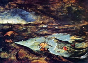 Pieter the Elder Bruegel - Sea storm