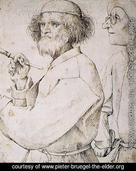 Pieter the Elder Bruegel - The painter and the buyer