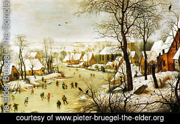 Pieter the Elder Bruegel - Winter Landscape with a Bird Trap