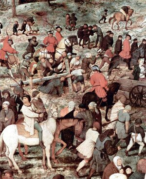 Pieter the Elder Bruegel - Christ Carrying the Cross (detail 4)
