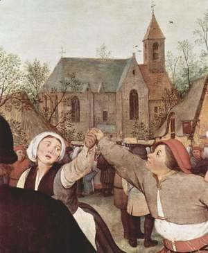 Pieter the Elder Bruegel - Farmers dance, Detail 1