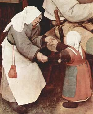 Pieter the Elder Bruegel - Farmers dance, Detail 3