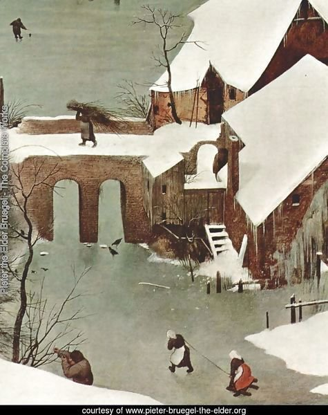 Hunters in the snow (detail 1)