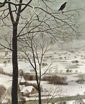 Pieter the Elder Bruegel - Hunters in the snow (detail 2)
