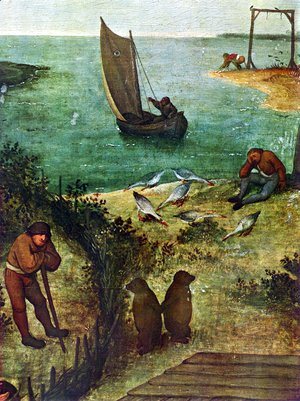 Pieter the Elder Bruegel - Netherlandish Proverbs (detail 3)
