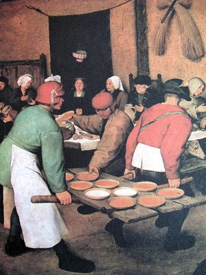 Pieter the Elder Bruegel - Peasant wedding (detail 1)