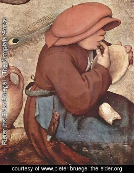 Pieter the Elder Bruegel - Peasant wedding (detail 2)