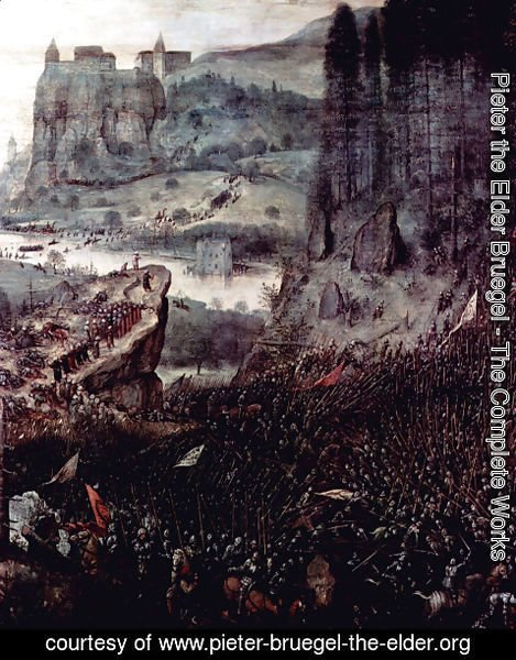Pieter the Elder Bruegel - Sauls Suicide, Detail