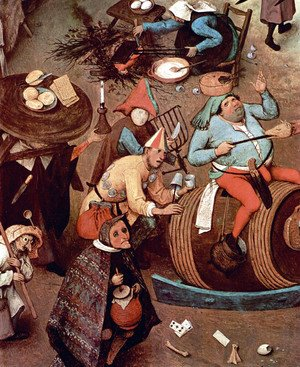 Pieter the Elder Bruegel - The Fight between Carnival and Lent