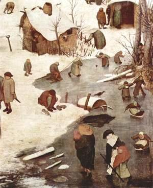Pieter the Elder Bruegel - The Numbering at Bethlehem, Detail 1