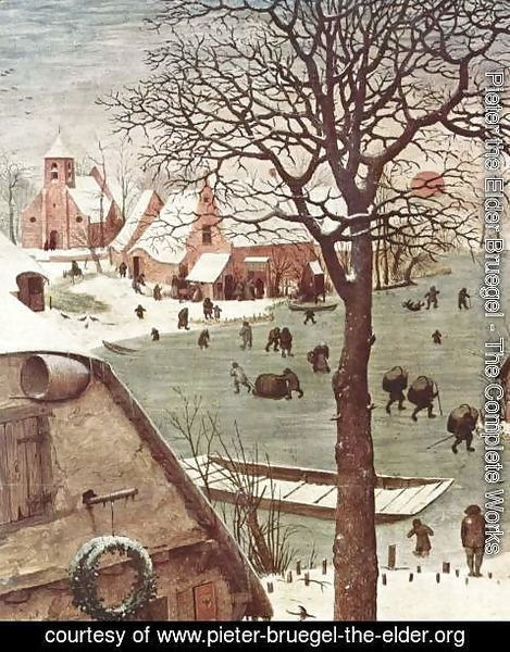 Pieter the Elder Bruegel - The Numbering at Bethlehem, Detail 2