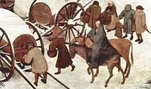 Pieter the Elder Bruegel - The Numbering at Bethlehem, Detail 4
