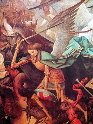 Pieter the Elder Bruegel - The fall of the rebel angels (detail 1)