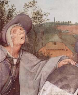 Pieter the Elder Bruegel - The parable of the blind, detail 1