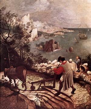 Pieter the Elder Bruegel - Landscape with the Fall of Icarus (detail)