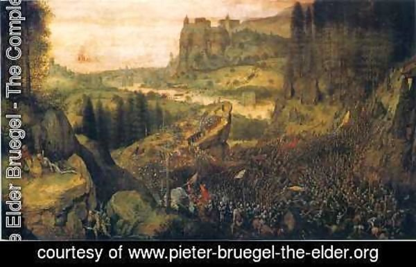 Pieter the Elder Bruegel - The Suicide of Saul