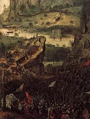 Pieter the Elder Bruegel - The Suicide of Saul (detail) 2