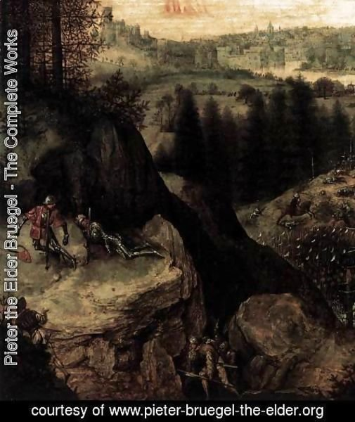 Pieter the Elder Bruegel - The Suicide of Saul (detail) 3