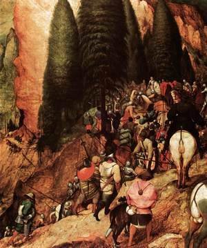 Pieter the Elder Bruegel - The Conversion of Saul (detail) 2