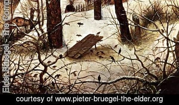 Pieter the Elder Bruegel - Winter Landscape with Skaters and a Bird Trap (detail) 2