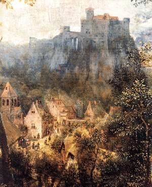 Pieter the Elder Bruegel - Magpie on the Gallow (detail)
