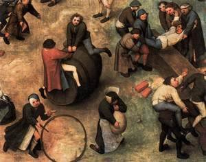 Pieter the Elder Bruegel - Children's Games (detail) 2