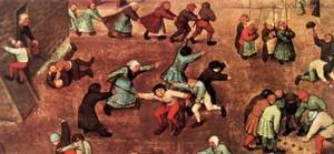 Pieter the Elder Bruegel - Children's Games (detail) 3