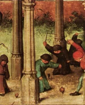 Pieter the Elder Bruegel - Children's Games (detail) 4
