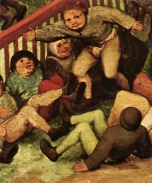 Pieter the Elder Bruegel - Children's Games (detail) 5
