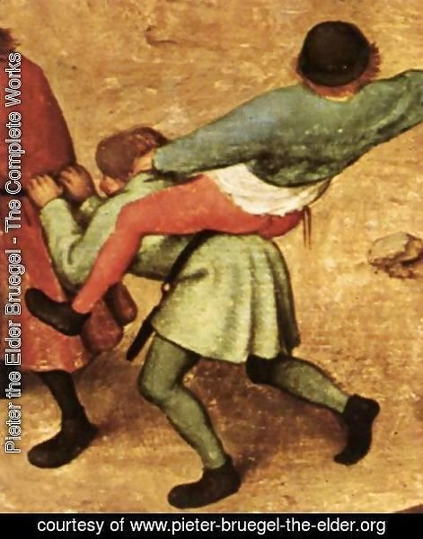 Pieter the Elder Bruegel - Children's Games (detail) 6