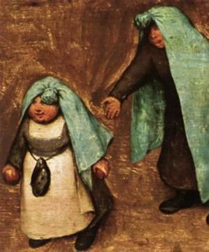 Pieter the Elder Bruegel - Children's Games (detail) 7