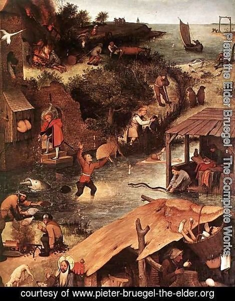 Pieter the Elder Bruegel - Netherlandish Proverbs (detail)
