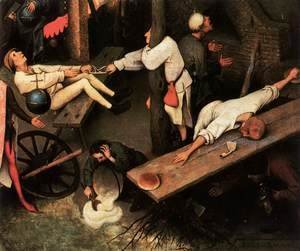 Pieter the Elder Bruegel - Netherlandish Proverbs (detail) 2