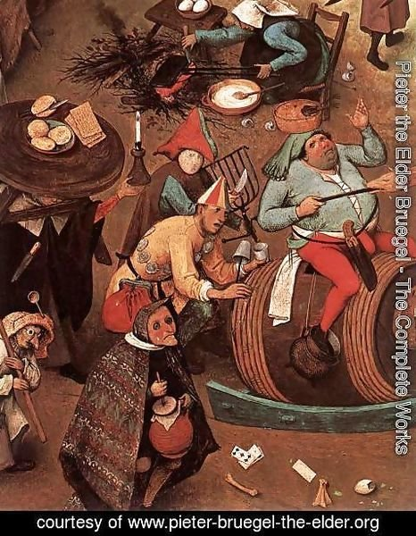 Pieter the Elder Bruegel - The Fight between Carnival and Lent (detail)