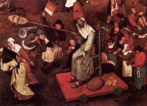 Pieter the Elder Bruegel - The Fight between Carnival and Lent (detail) 2